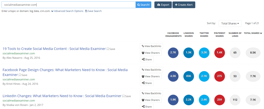 Facebook business page tips #1: Use BuzzSumo to find your competitors' best content.