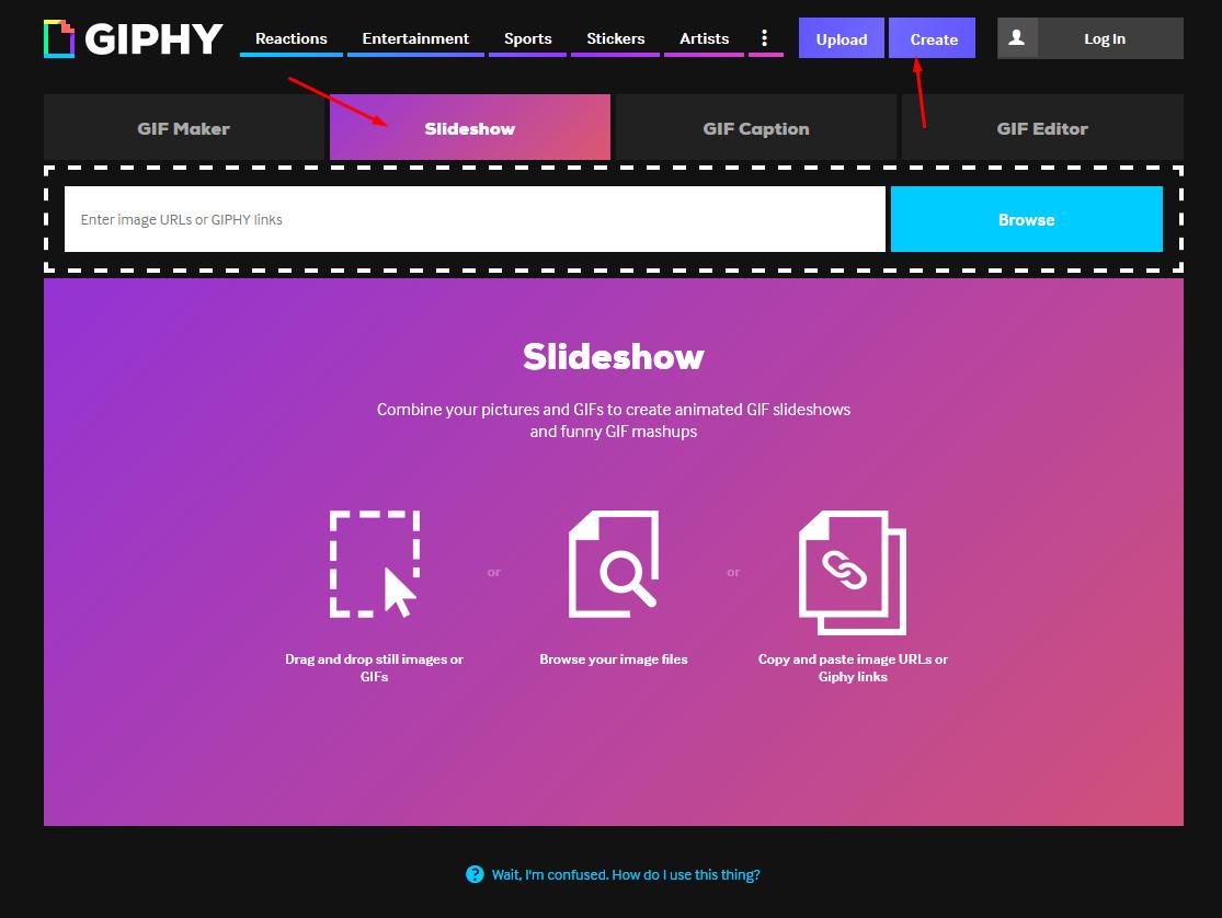 Make an animated GIF easily with the slideshow option on Giphy.com