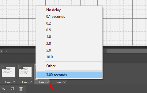 Control the time delay for each of your frames