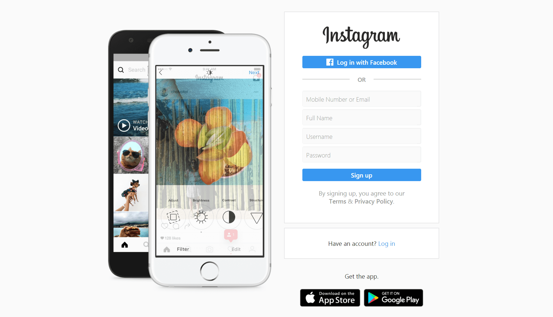 The Instagram homepage, Instagram Vs Snapchat