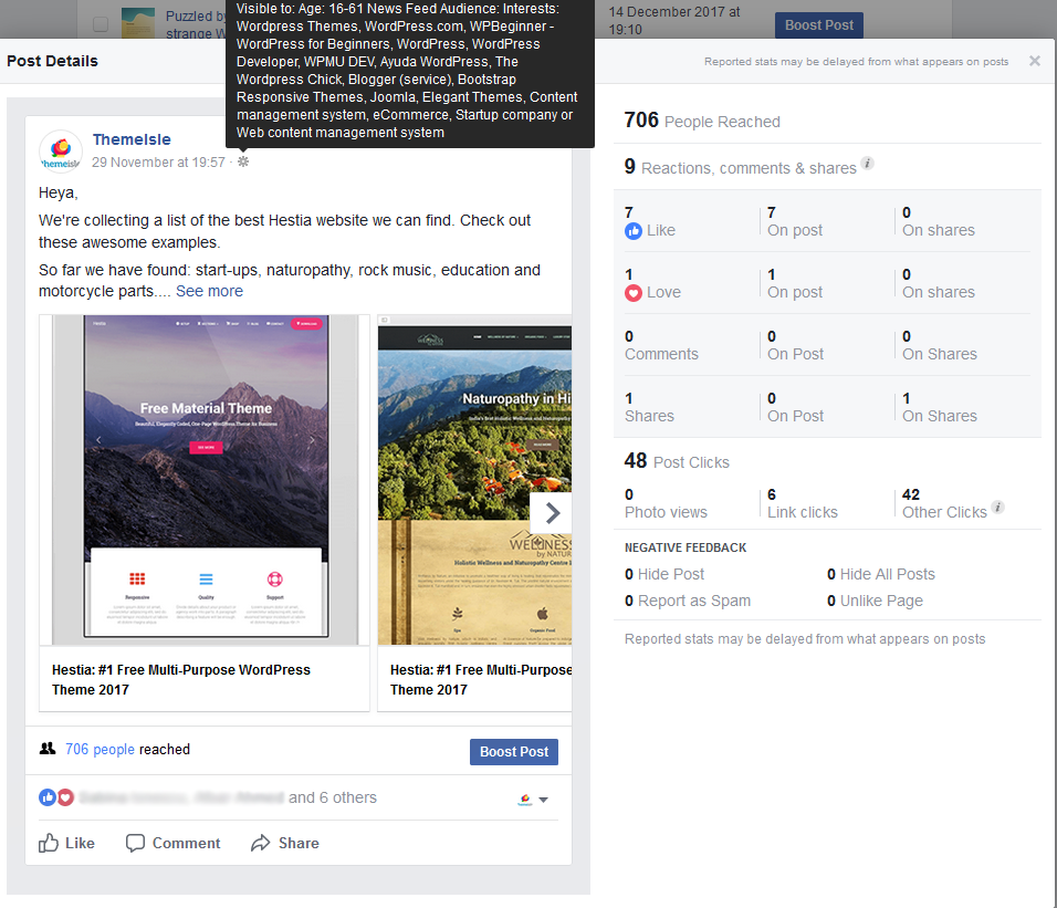 Social media case study: Targeting must be well done or you end up limiting your post to a very small audience