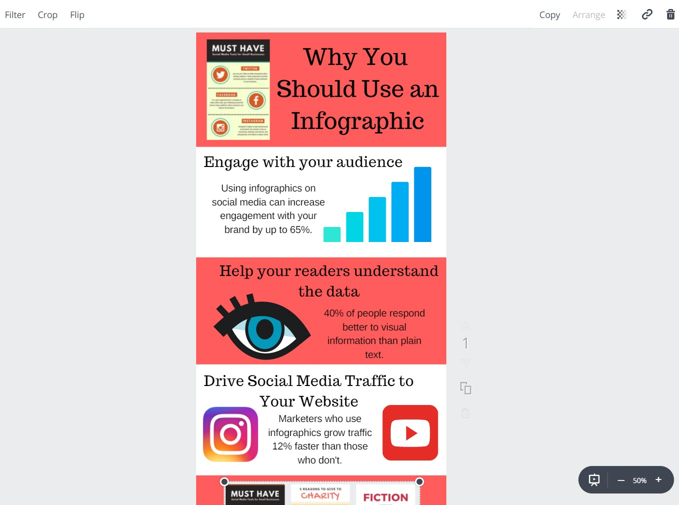 How to make infographics with Canva - elements 3
