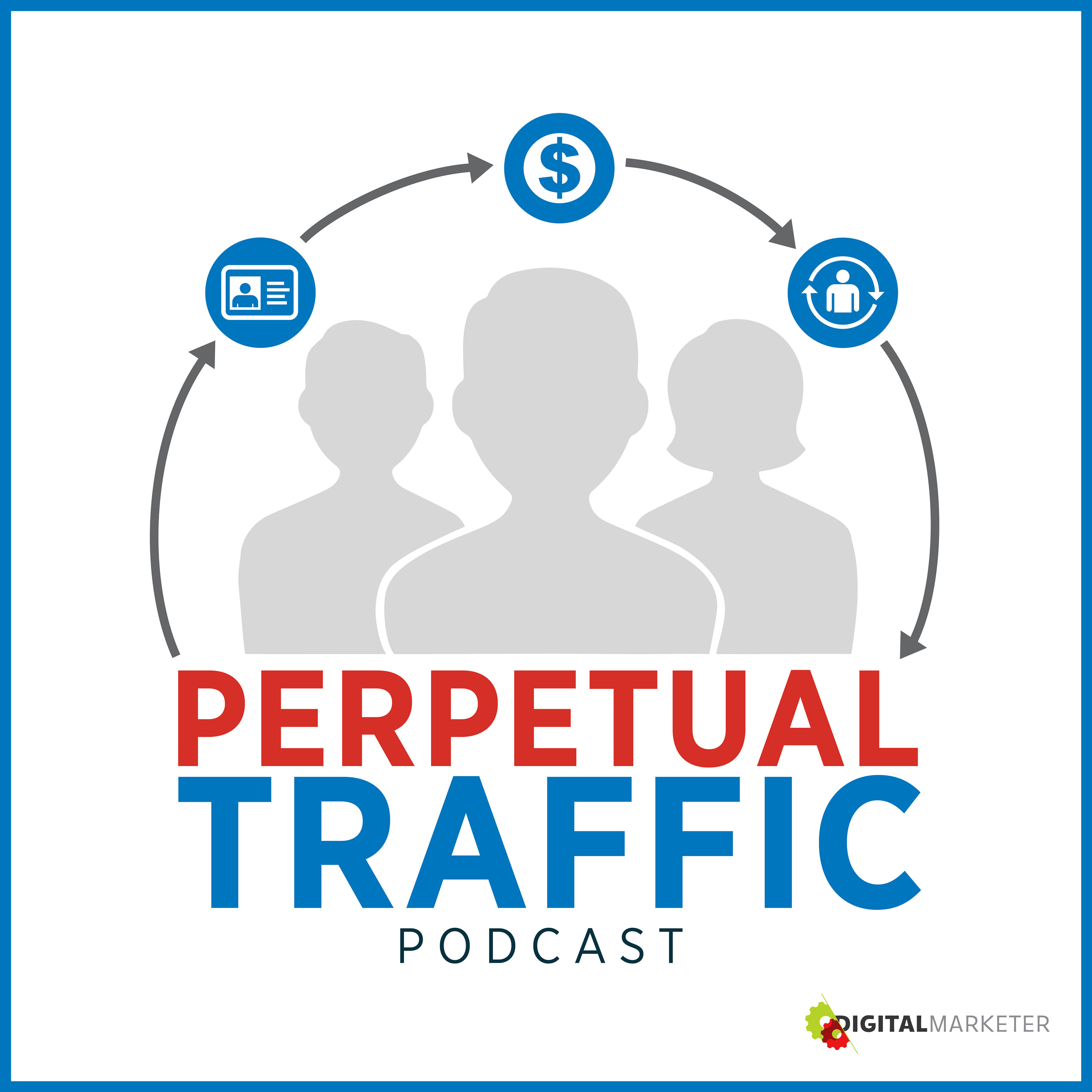 Perpetual Traffic Podcast provides actionable advice for building a traffic machine