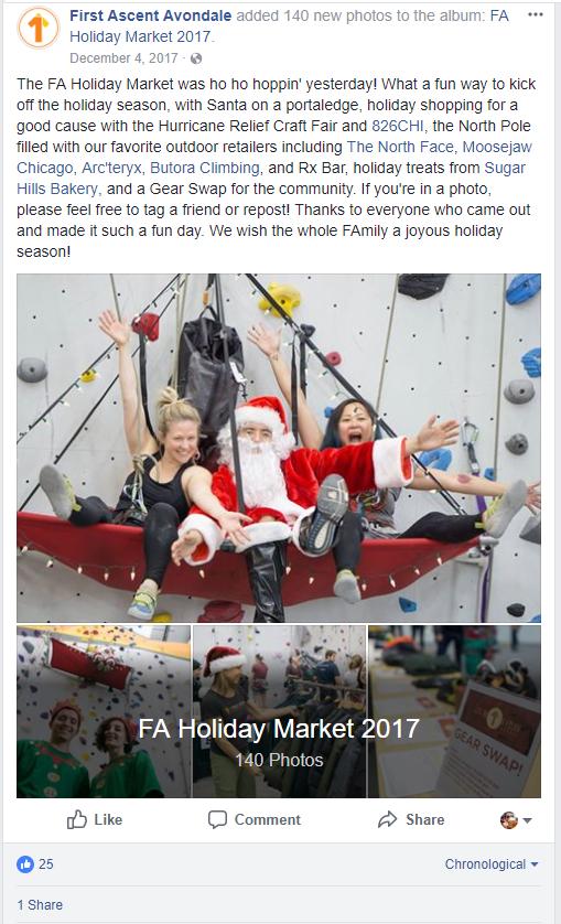climbing gym facebook promotion