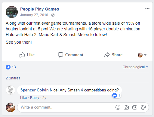 people play games facebook text post
