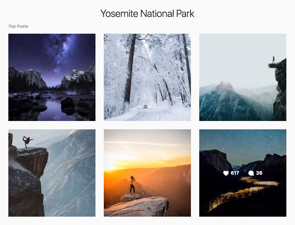 Instagram Marketing Strategy - Yosemite National Park Instagram