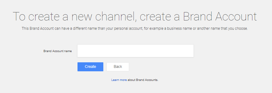 Naming your company YouTube channel.