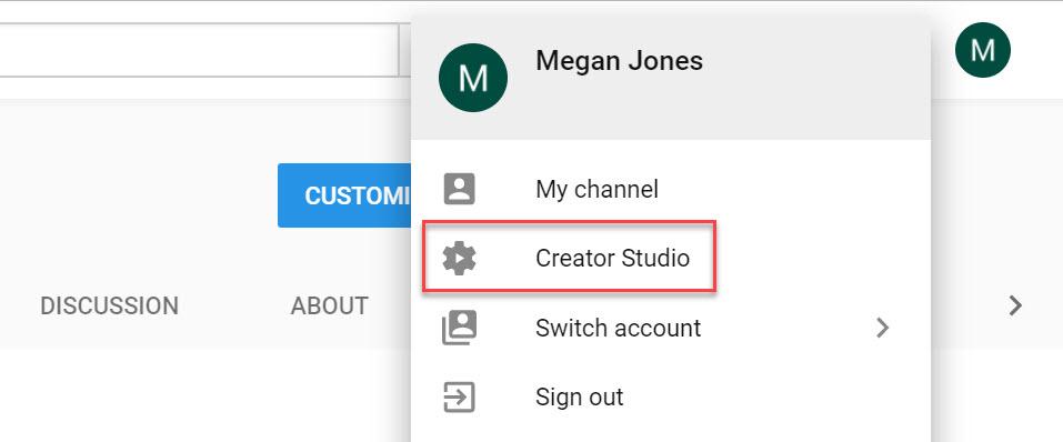 Creator Studio Video Manager