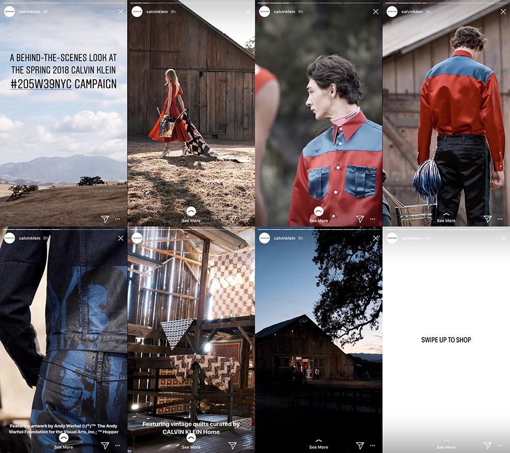 Calvin Klein previews its upcoming Spring 2018 collection