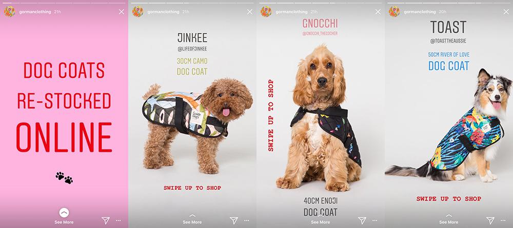 Fashion brand Gorman uses Instagram Stories
