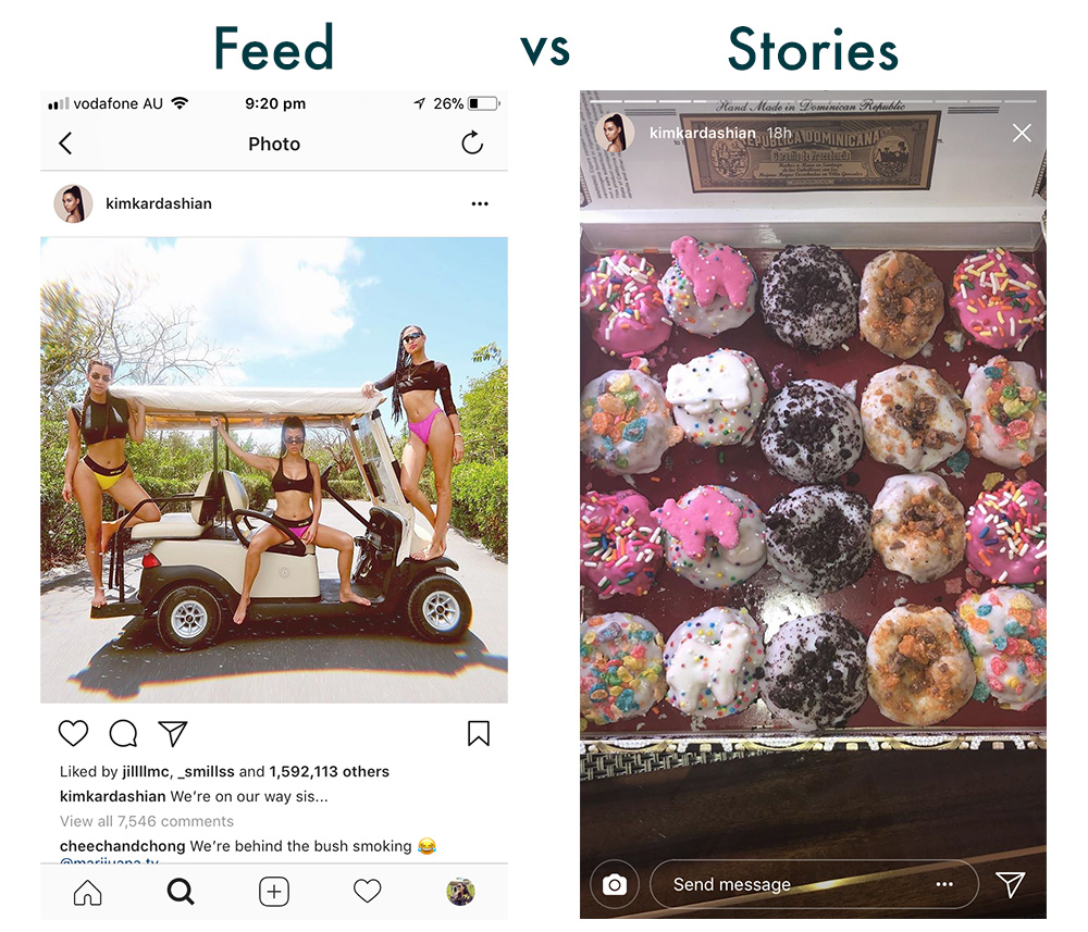 Instagram feed vs Stories