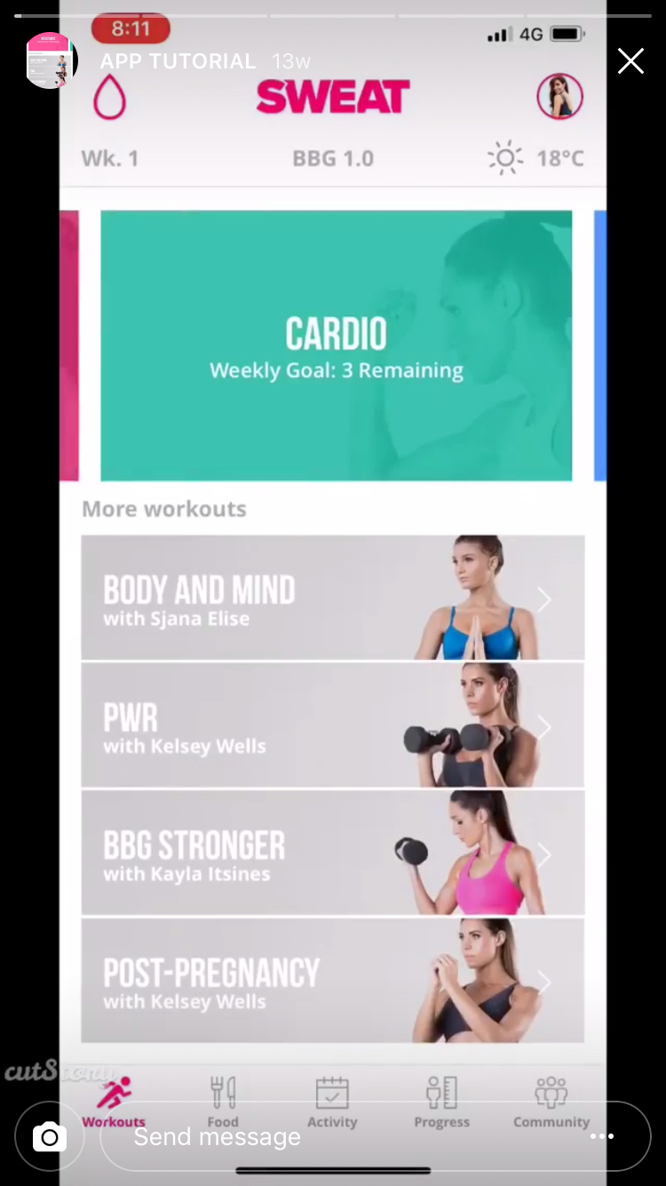 How to use Instagram Stories: Kayla Itsines Instagram Stories