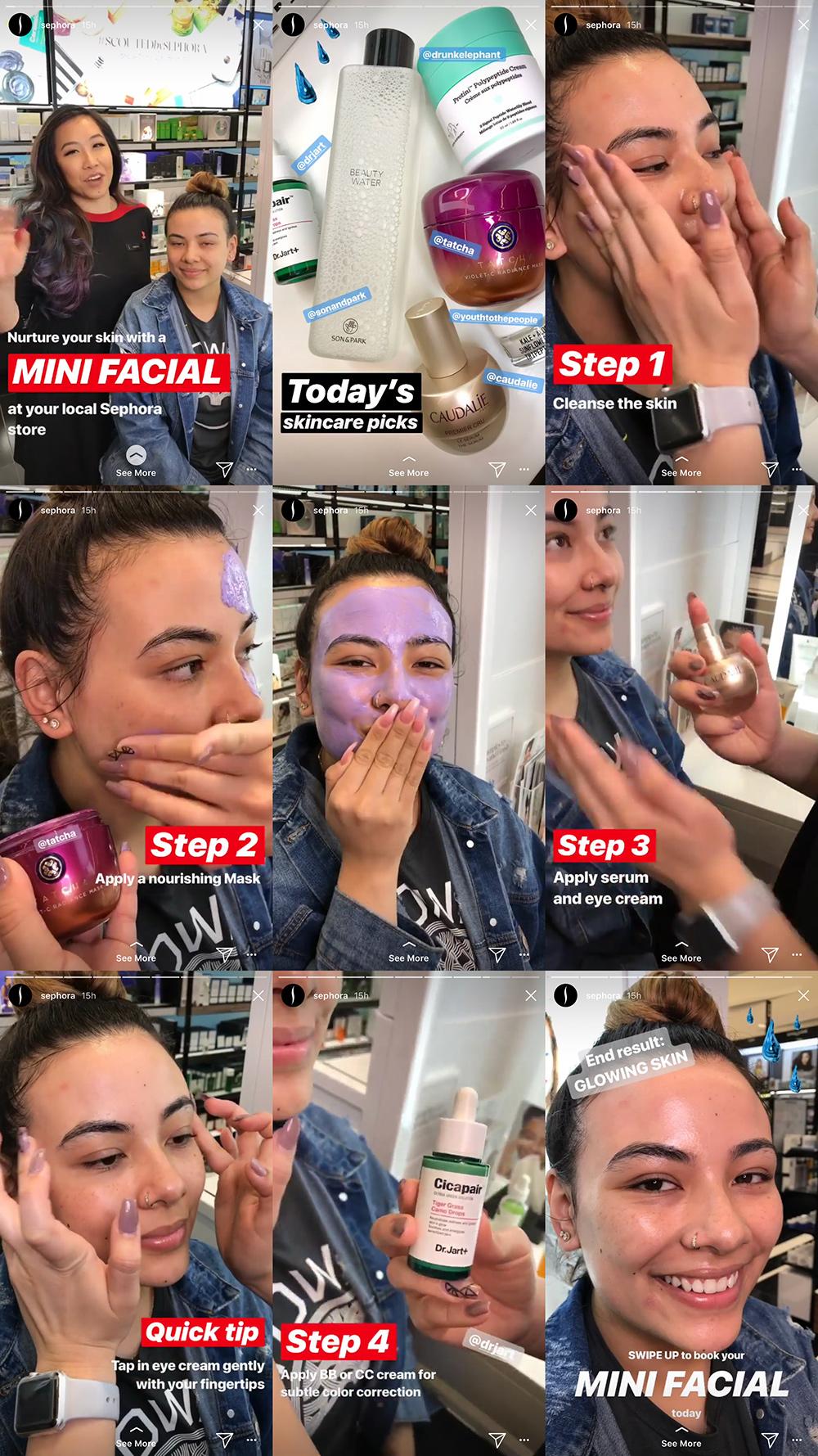 Sephora Instagram Stories