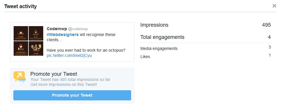 Tweet impressions and copy changes