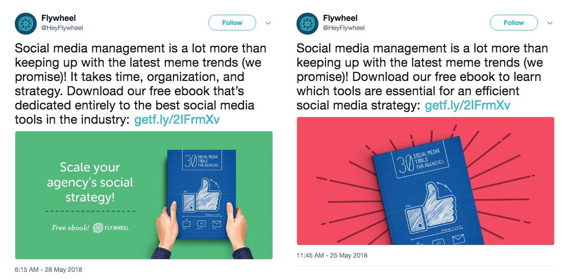 Flywheel schedule tweets example
