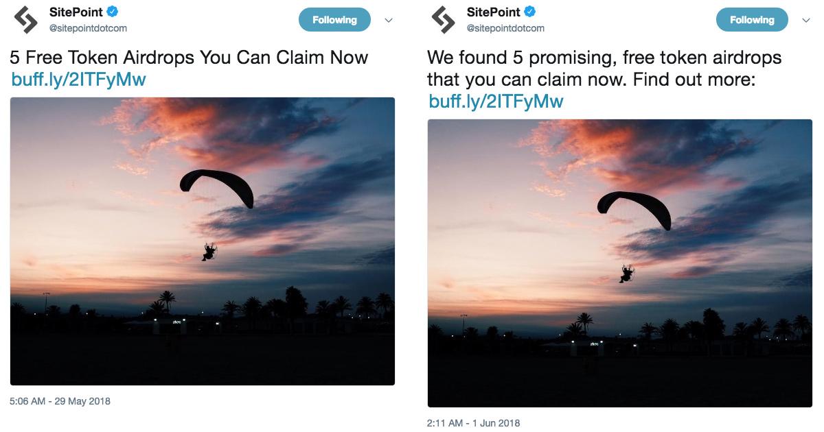 Sitepoint schedule tweets example