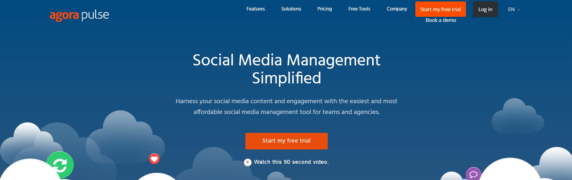 The Agorapulse website.