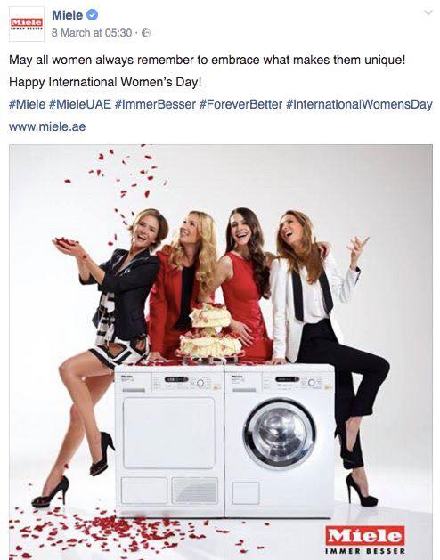 Miele International Women's day social media for business