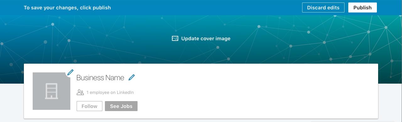 Adding a logo to your LinkedIn company page.