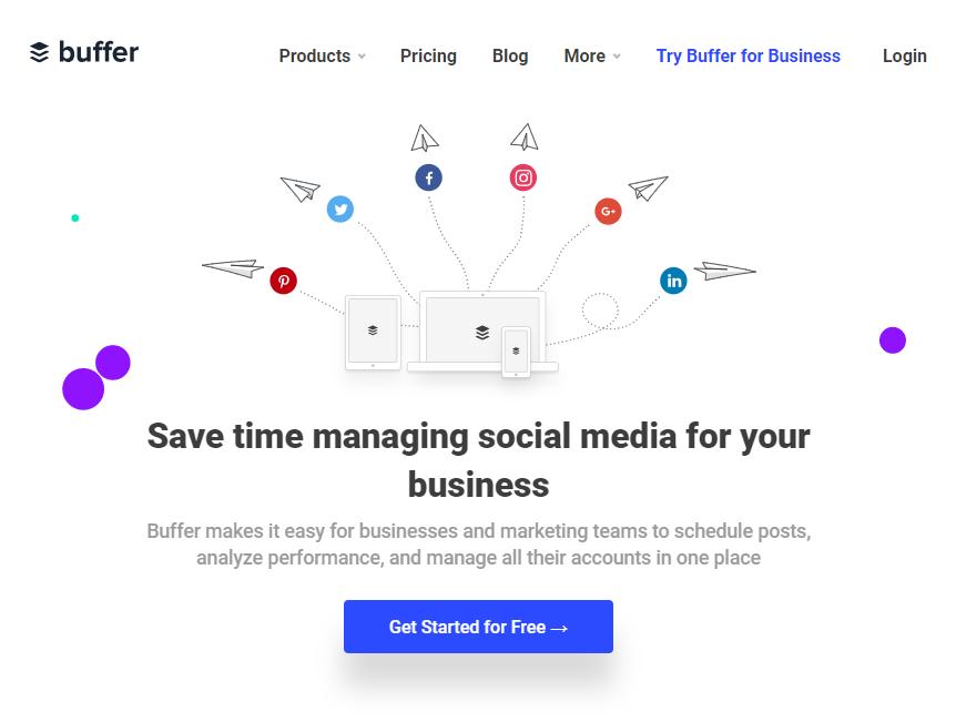 buffer - Social Media Management Tools