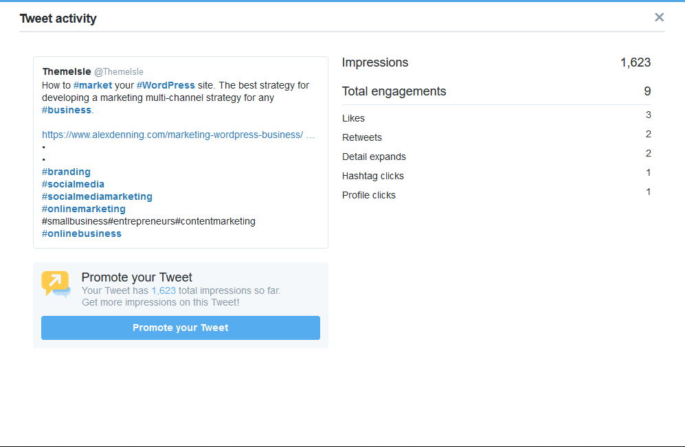 The drop off in engagement for more than 3 hashtags occurs on less dynamic content