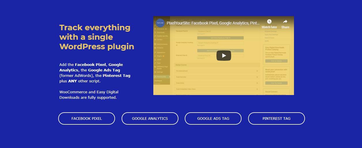 The PixelYourSite WordPress Facebook plugin.