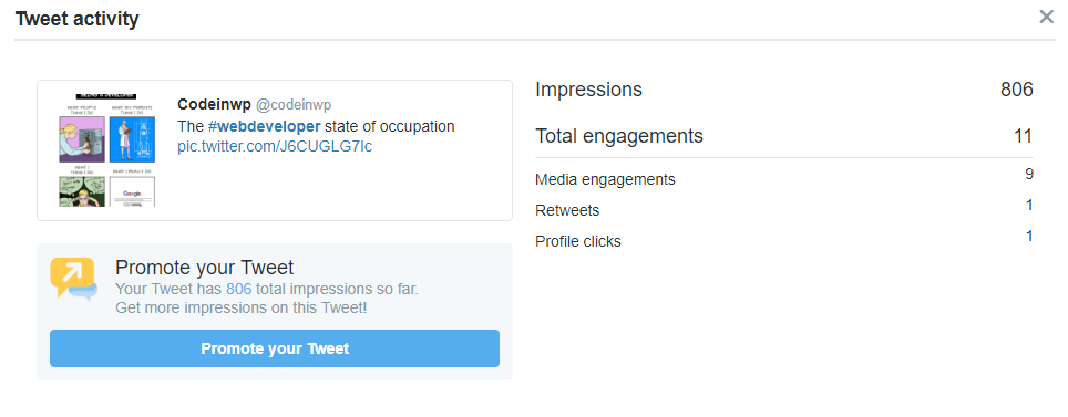 The tweet with fewer hashtags that underperformed