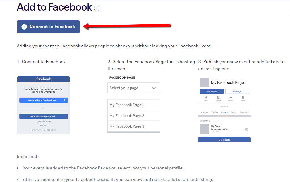 Connect to Facebook