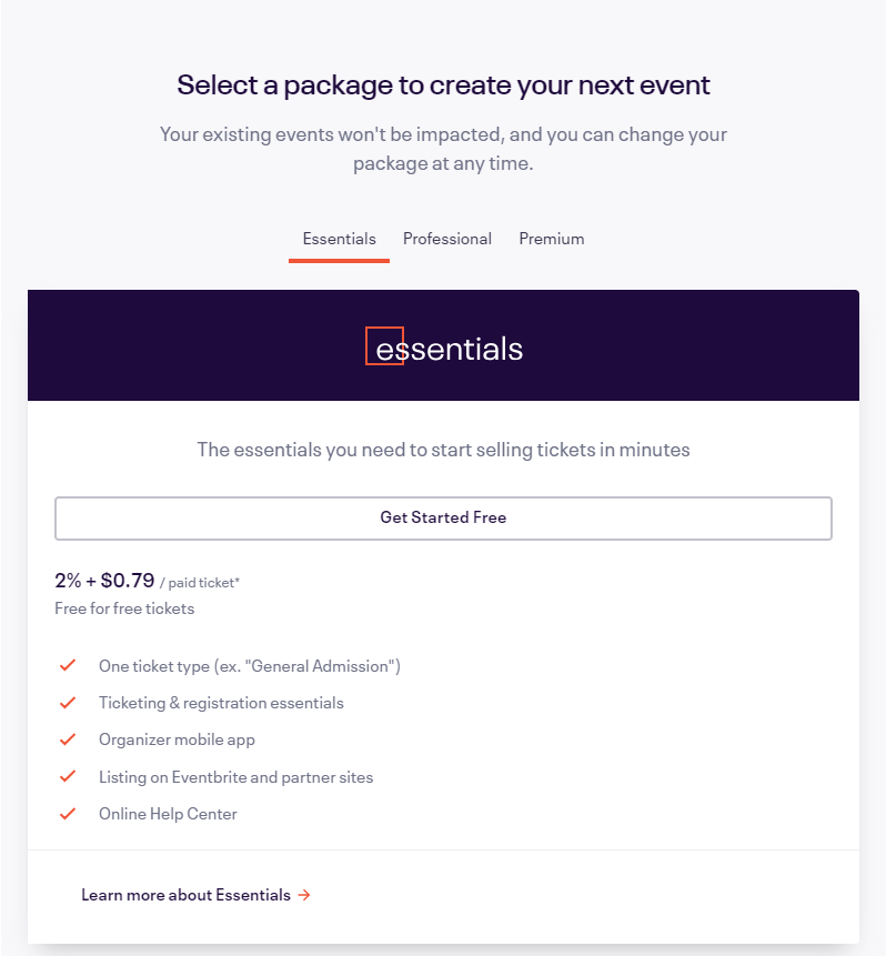 select package