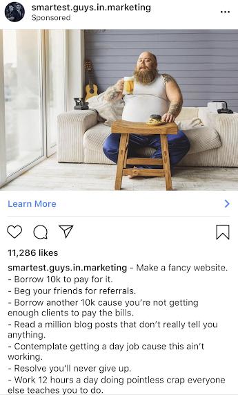Instagram ads Smartest Guys in Marketing